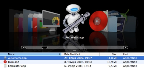 You can found Automator in /Applications/Automator.app